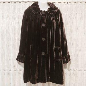 Studio M Romantic Velvet Silk Blend Coat